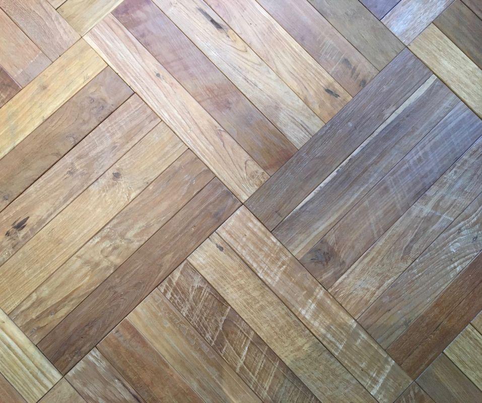 Teak Patina Herringbone Flooring Archives Vintage Timberworks