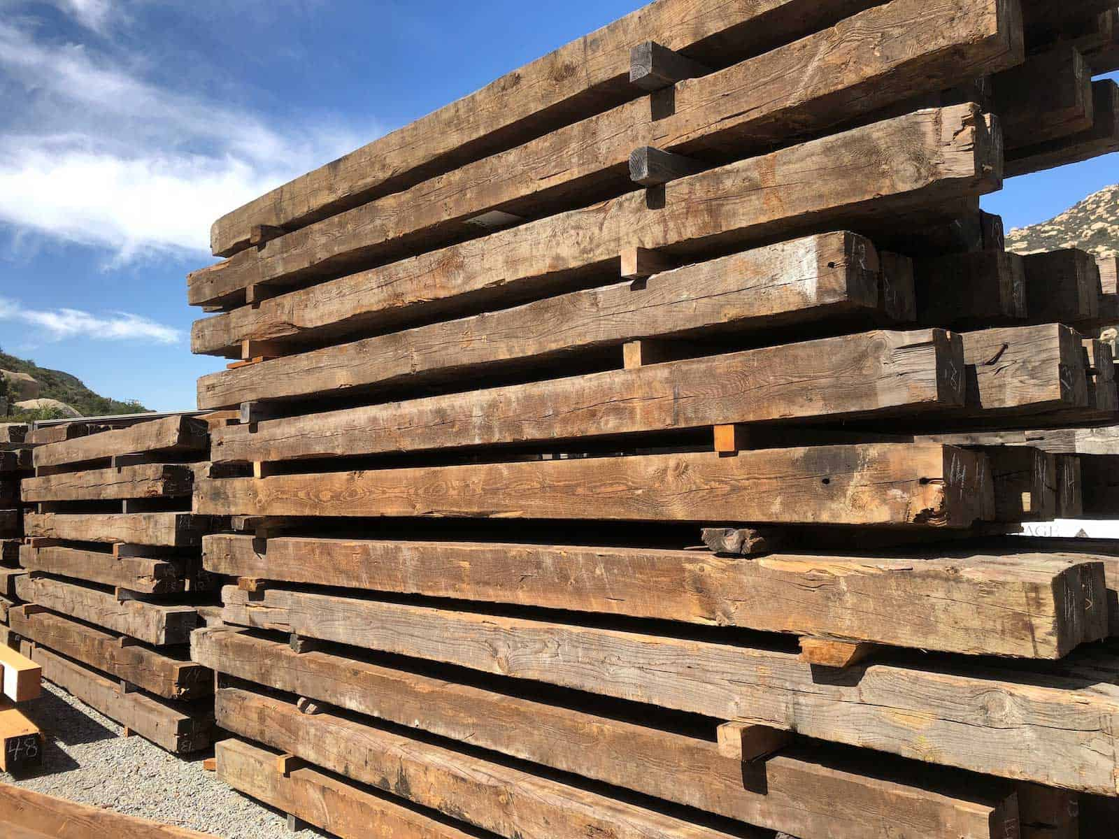 As Is Reclaimed 8x8 heart pine inventory - Vintage Reclaimed Douglas Fir