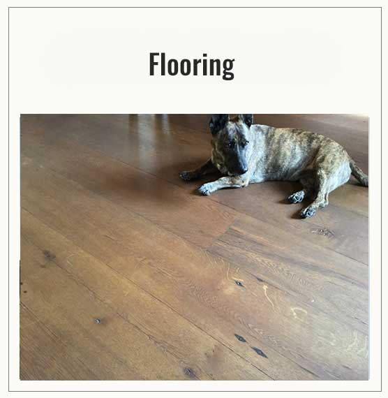 Flooring with dog