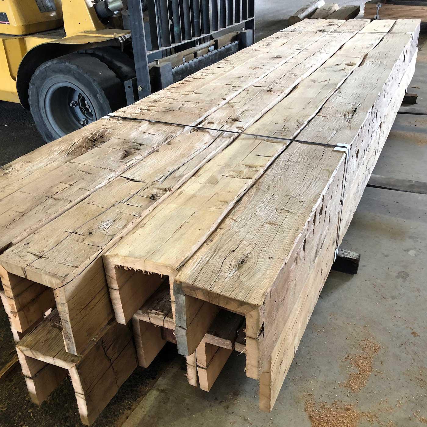 Hand Hewn Barn Timber Box Beams - Box Beam Fabrication