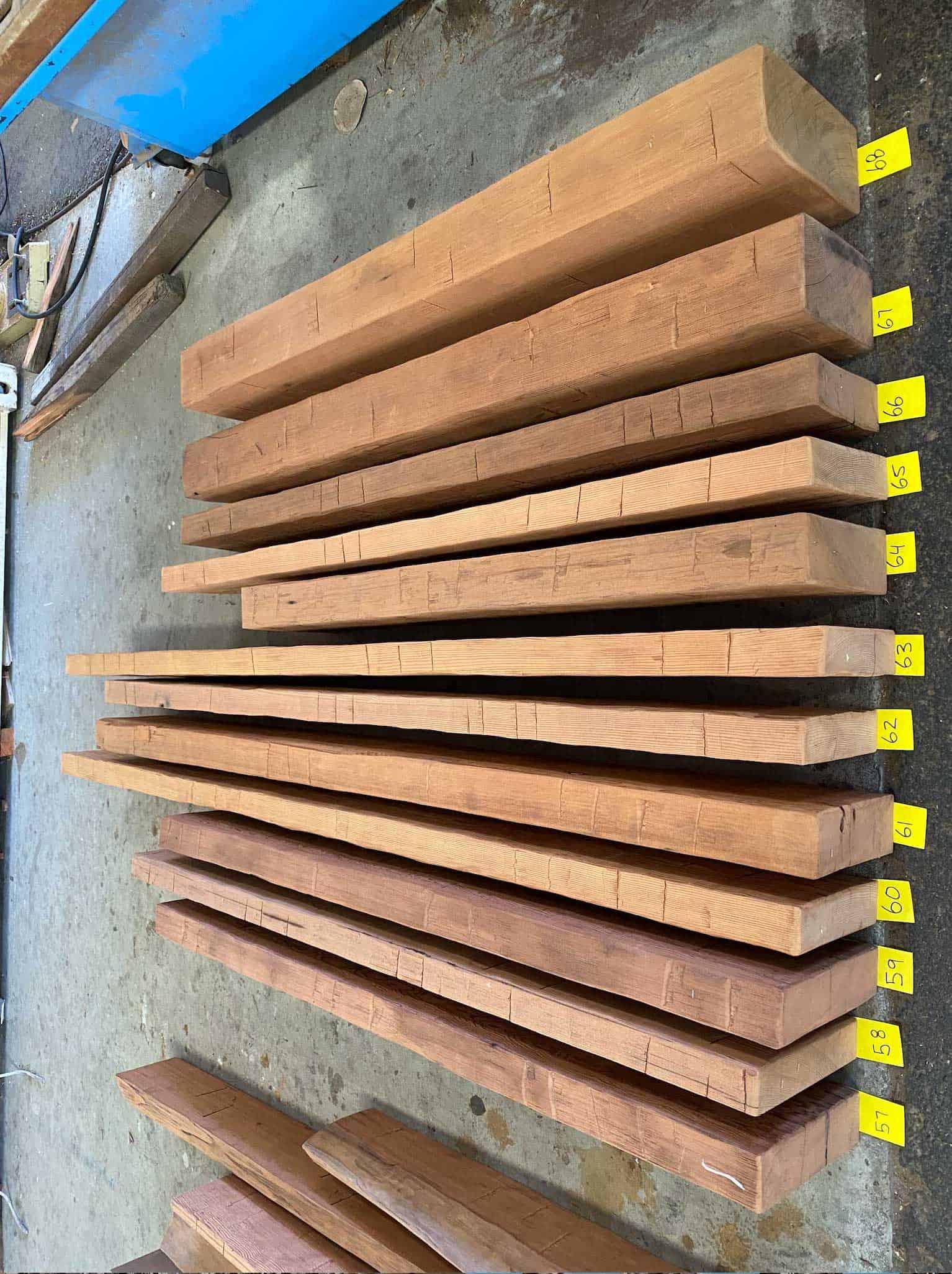 Hand Hewn Redwood Mantels - Vintage Timberware
