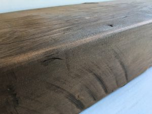 SANDED REDWOOD MANTEL
