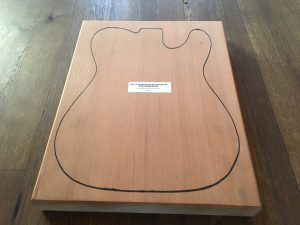 Old Growth Redwood Telecaster Blank