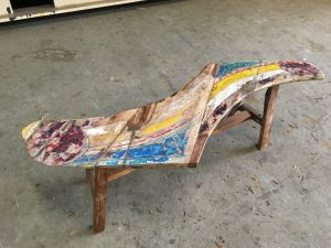 Boat Wood Bench