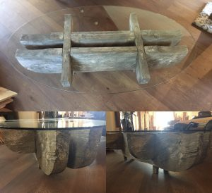 Antique Teak Timber Coffee Table