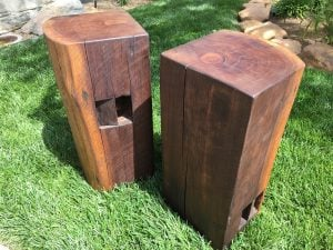 Solid Black Walnut End Tables