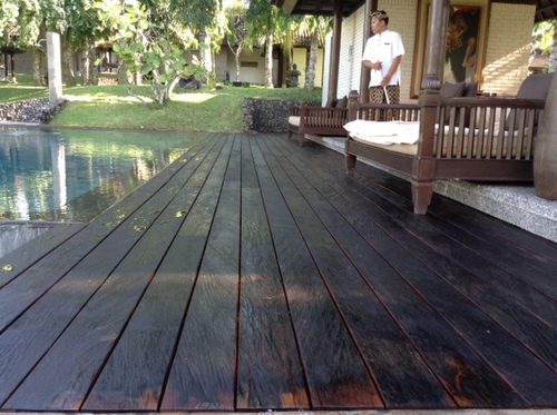 Rustic Ulin Decking Installed - Ulin Ironwood