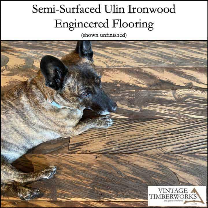 Semi Surfaced Ulin Floor - Ulin Ironwood