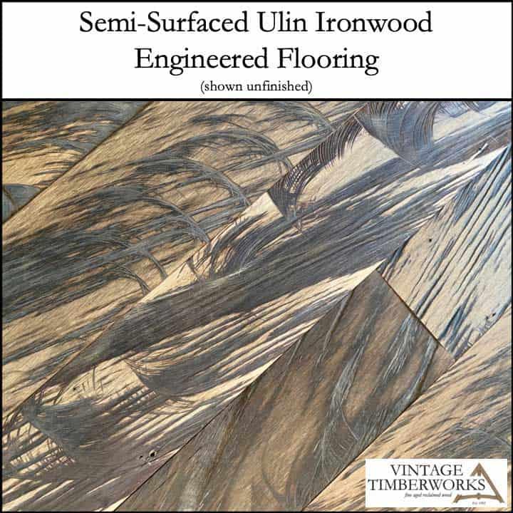 Semi Surfaced Ulin Ironwood Flooring - Ulin Ironwood