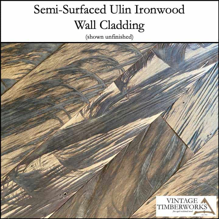 Semi Surfaced Ulin Wall Cladding Unfinished - Ulin Ironwood