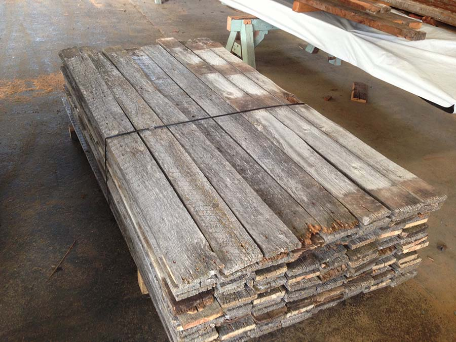 as is 1x6 gray board - Reclaimed Planking Gray Board