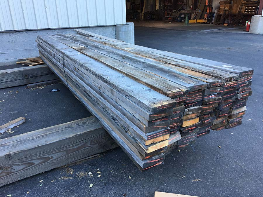 as is 2x8 gray board - Reclaimed Planking Gray Board