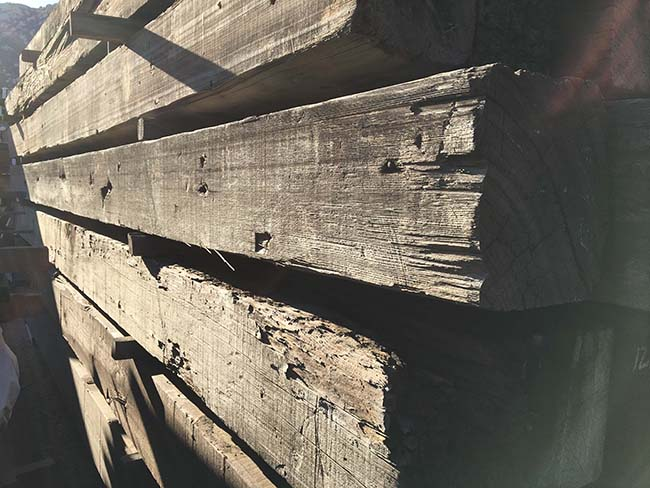 as is redwood beams07 - Vintage Reclaimed Redwood
