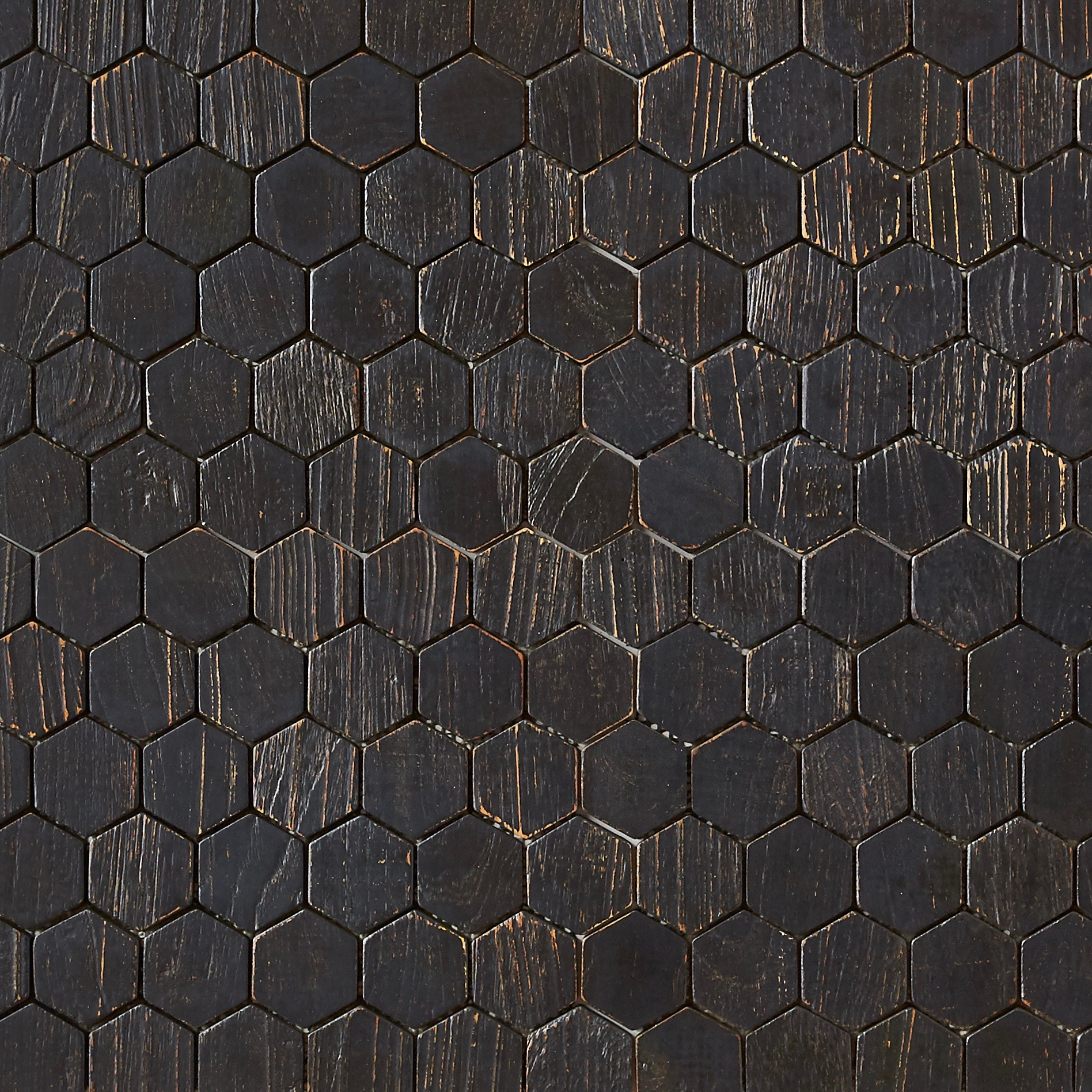 black matte finish 1 - Teak Tile - Honeycomb