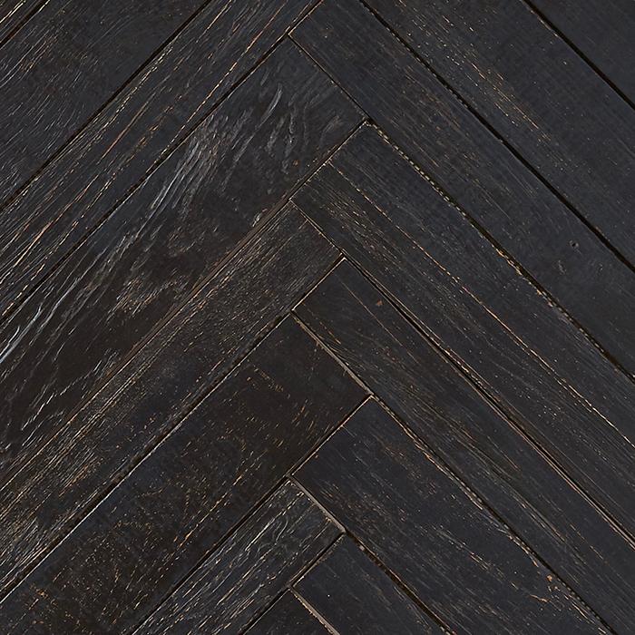 black matte finish 2 - Teak Tile - Herringbone
