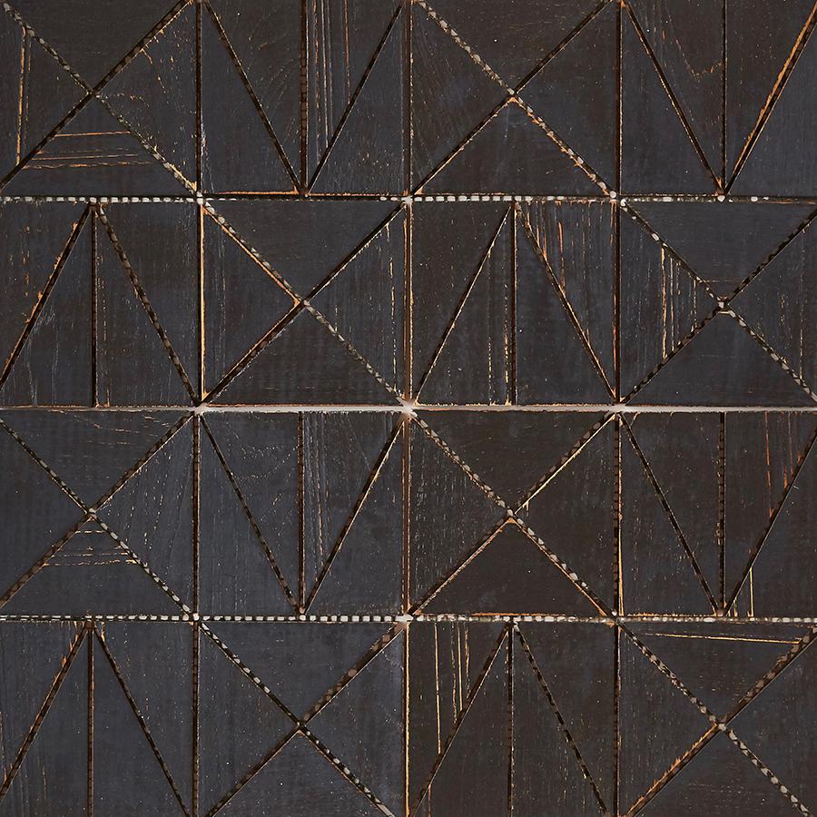 black matte finish 6 - Teak Tile - Rune