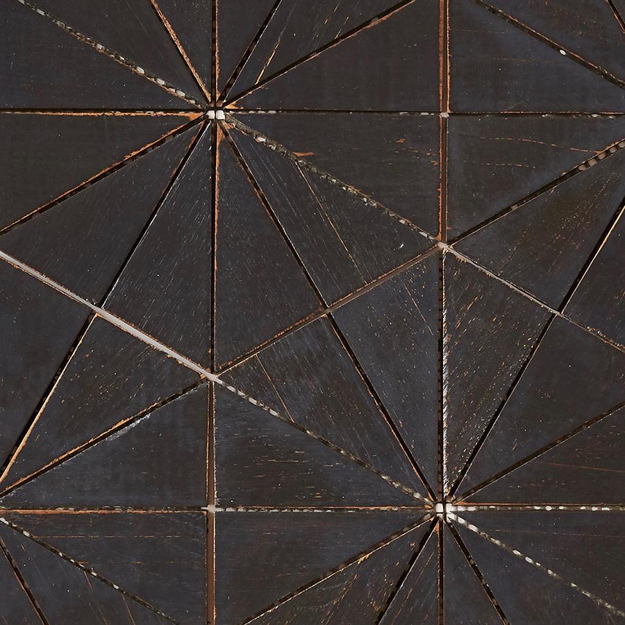 black matte finish 7 - Teak Tile - Starburst