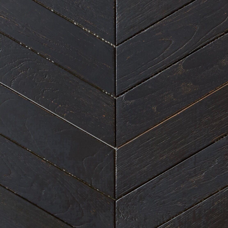 black matte finish - Teak Tile - Chevron