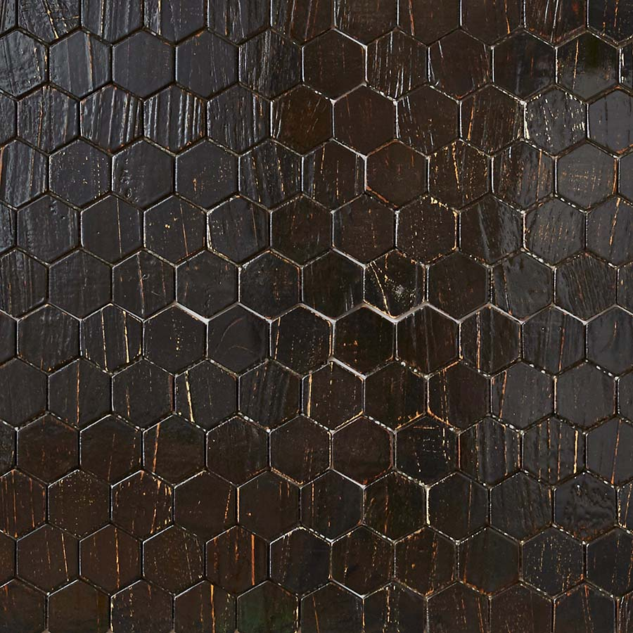 black resin finish 1 - Teak Tile - Honeycomb