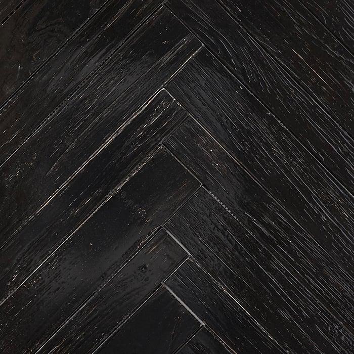 black resin finish 2 - Teak Tile - Herringbone