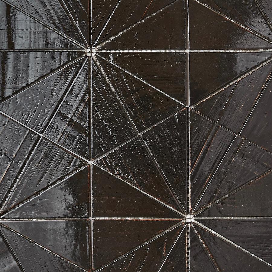 black resin finish 7 - Teak Tile - Starburst