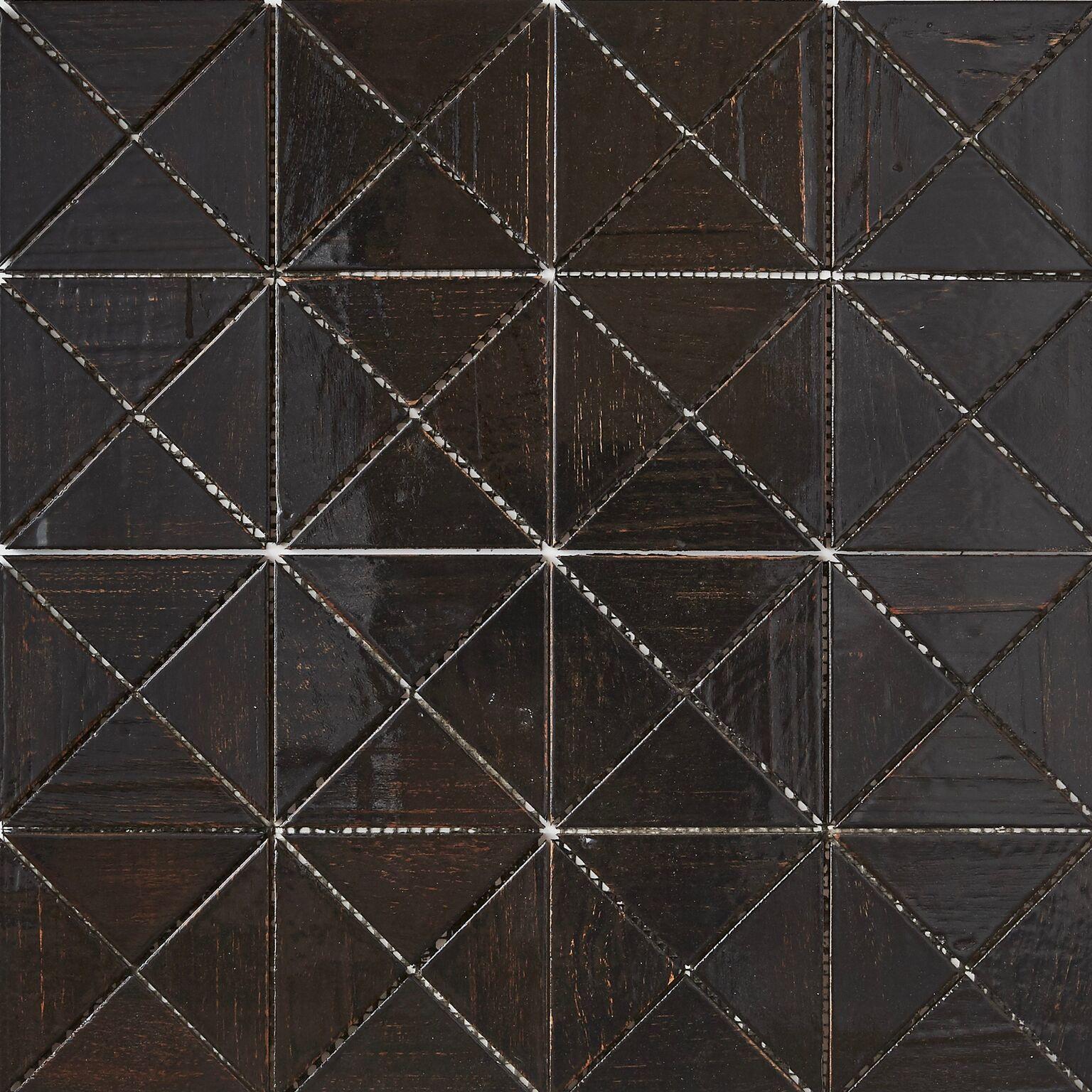 black resin finish 8 - Teak Tile - Crosscut