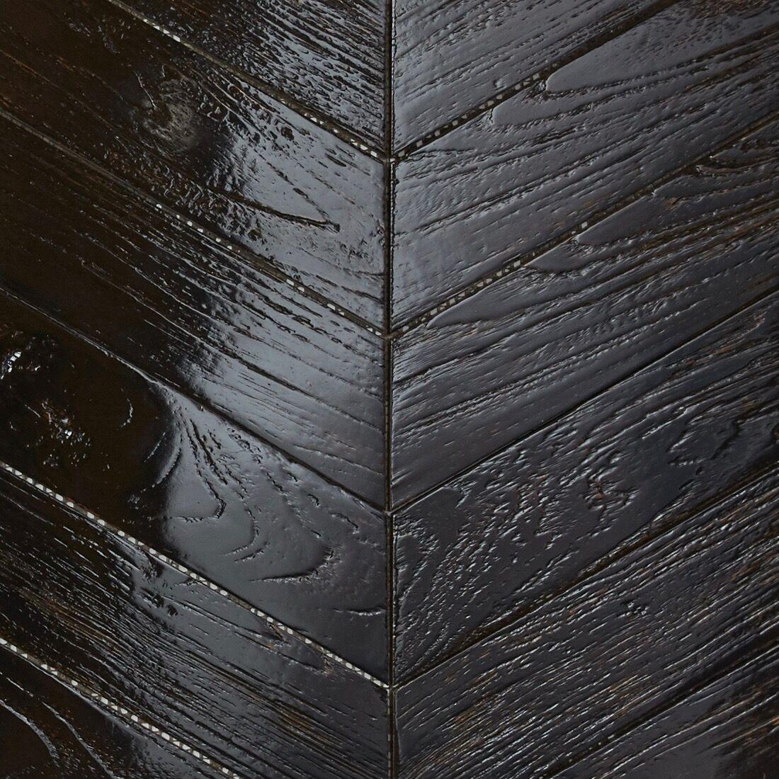 black resin finish - Teak Tile - Chevron
