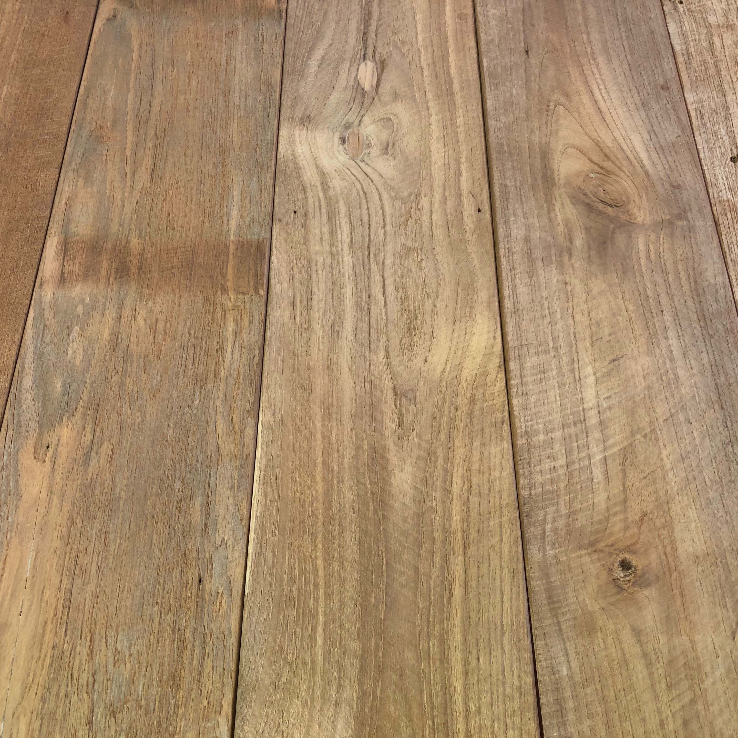 bright patina unfinished 1 - Reclaimed Teak Wall Cladding