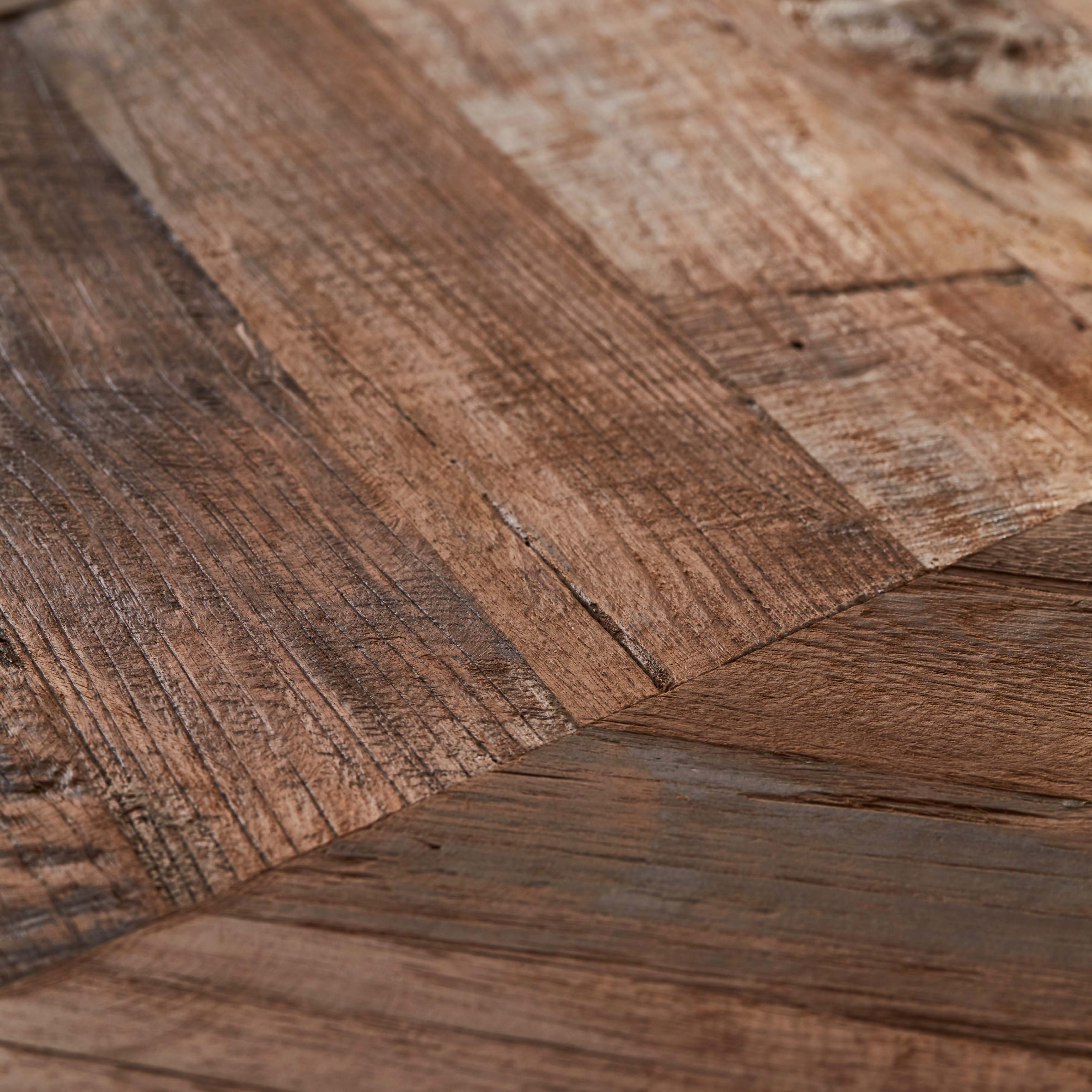 chevron patina closeup - Reclaimed Teak Plywood Panels