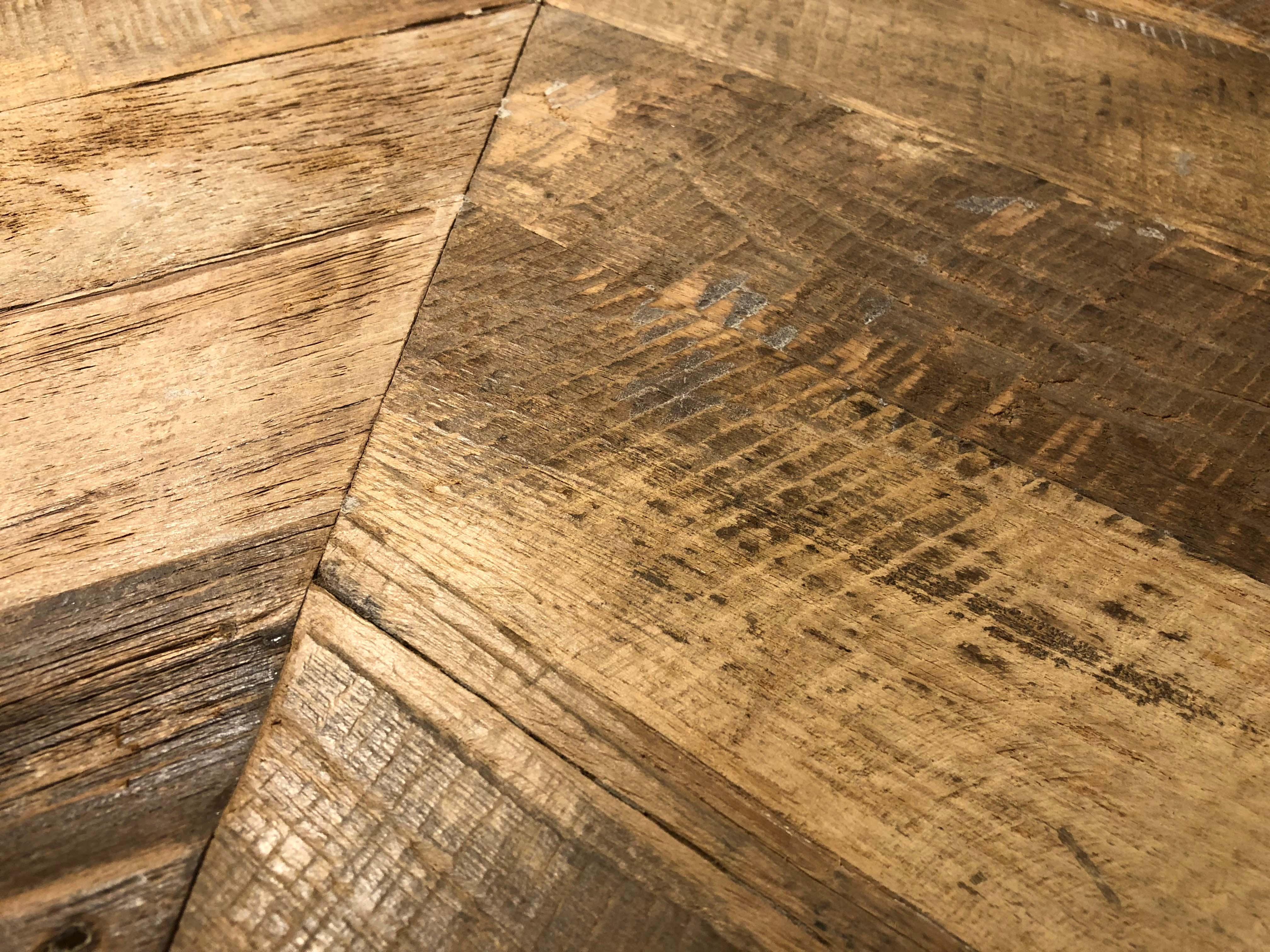 chevron patina detail - Reclaimed Teak Plywood Panels