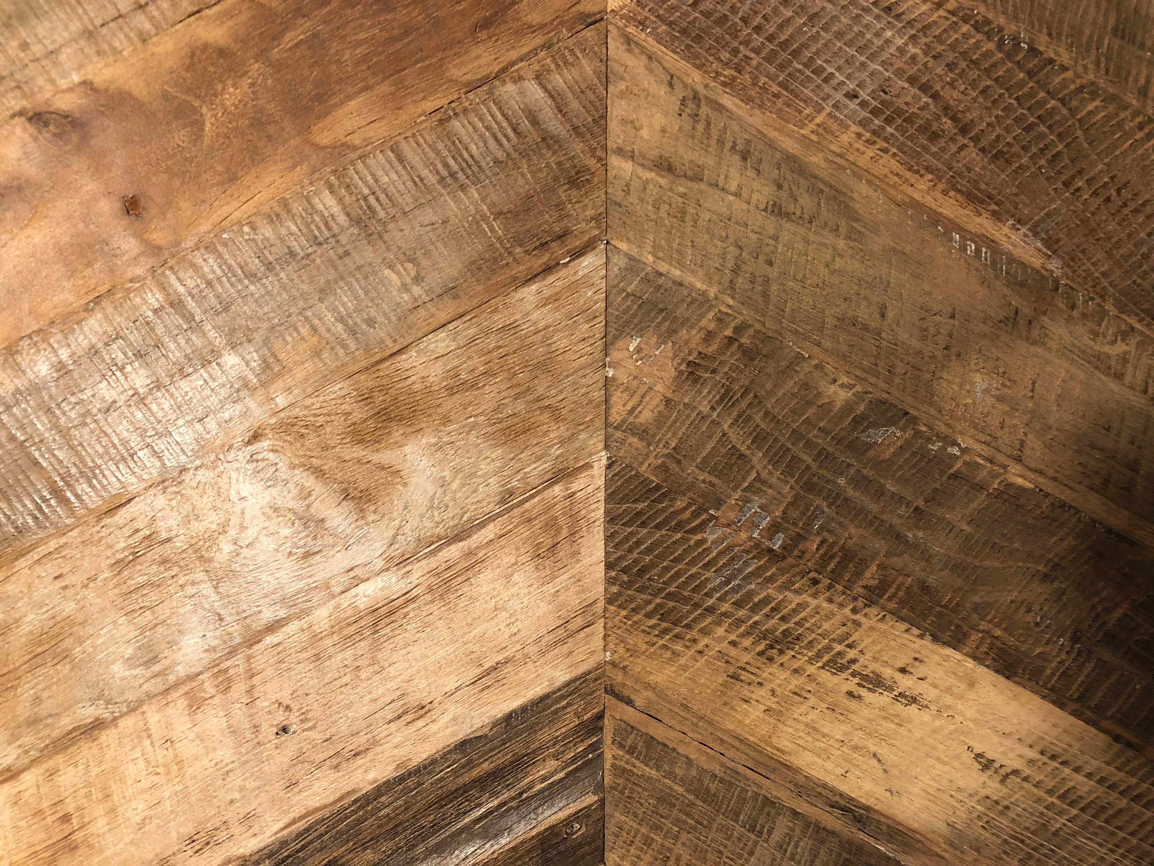 chevron patina plywood - Reclaimed Teak Plywood Panels