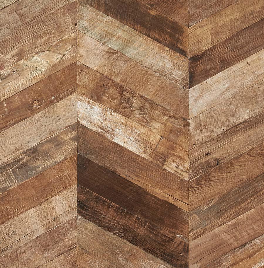 chevron patina teak plywood - Reclaimed Teak Plywood Panels