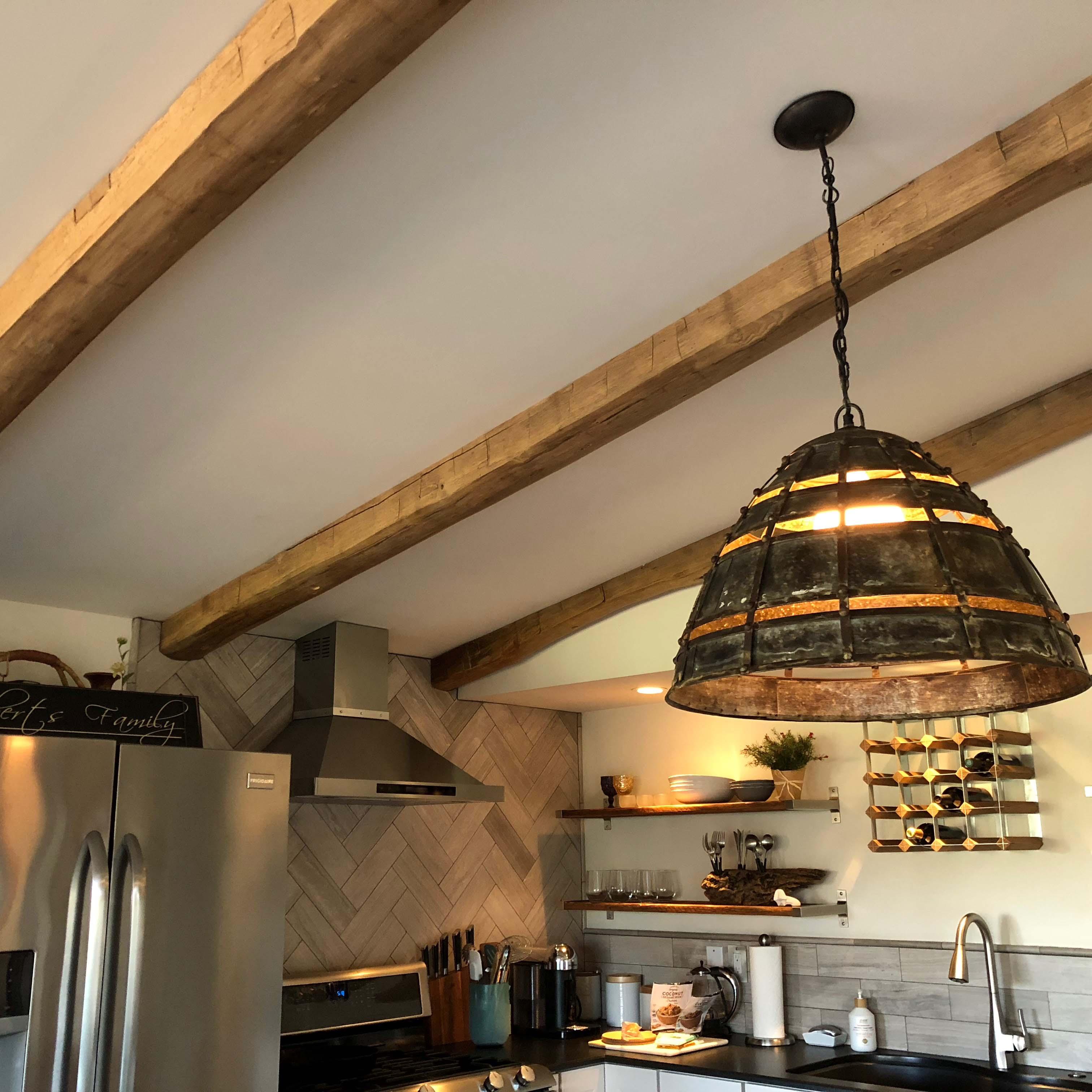 edge hardwood beams08 - Reclaimed Hardwood Barn Timbers