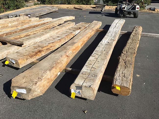 edge hardwood beams19 - Reclaimed Hardwood Barn Timbers