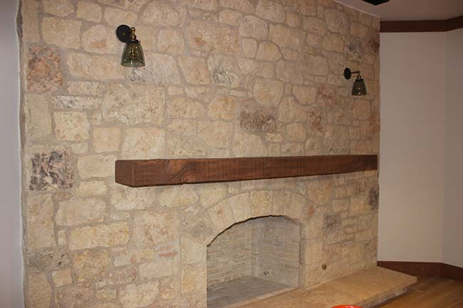 ground douglas mantels03 - Reclaimed Mantel Douglas Fir