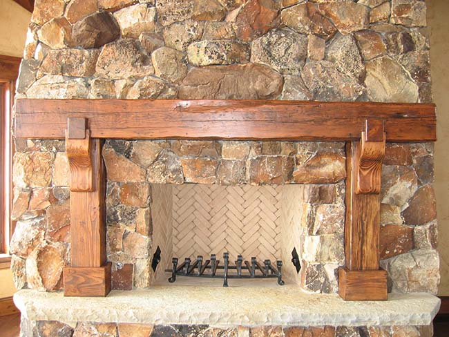 ground douglas mantels04 - Reclaimed Mantel Douglas Fir