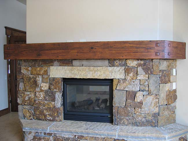 ground douglas mantels05 - Reclaimed Mantel Douglas Fir