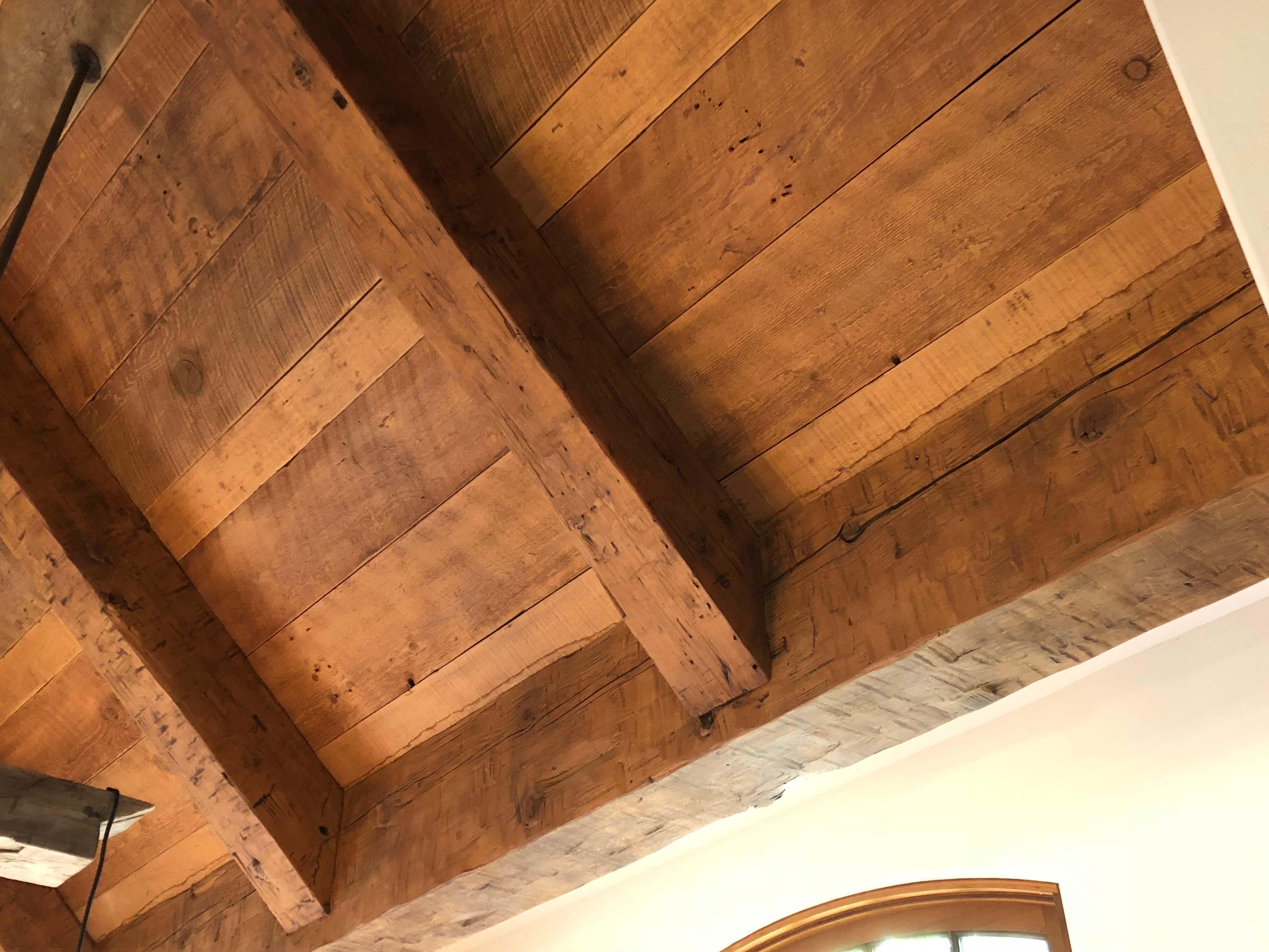 hewn douglas beams - Vintage Reclaimed Douglas Fir