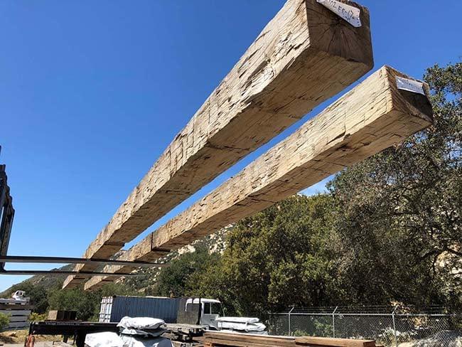 hewn hardwood beams02 - Reclaimed Hardwood Barn Timbers