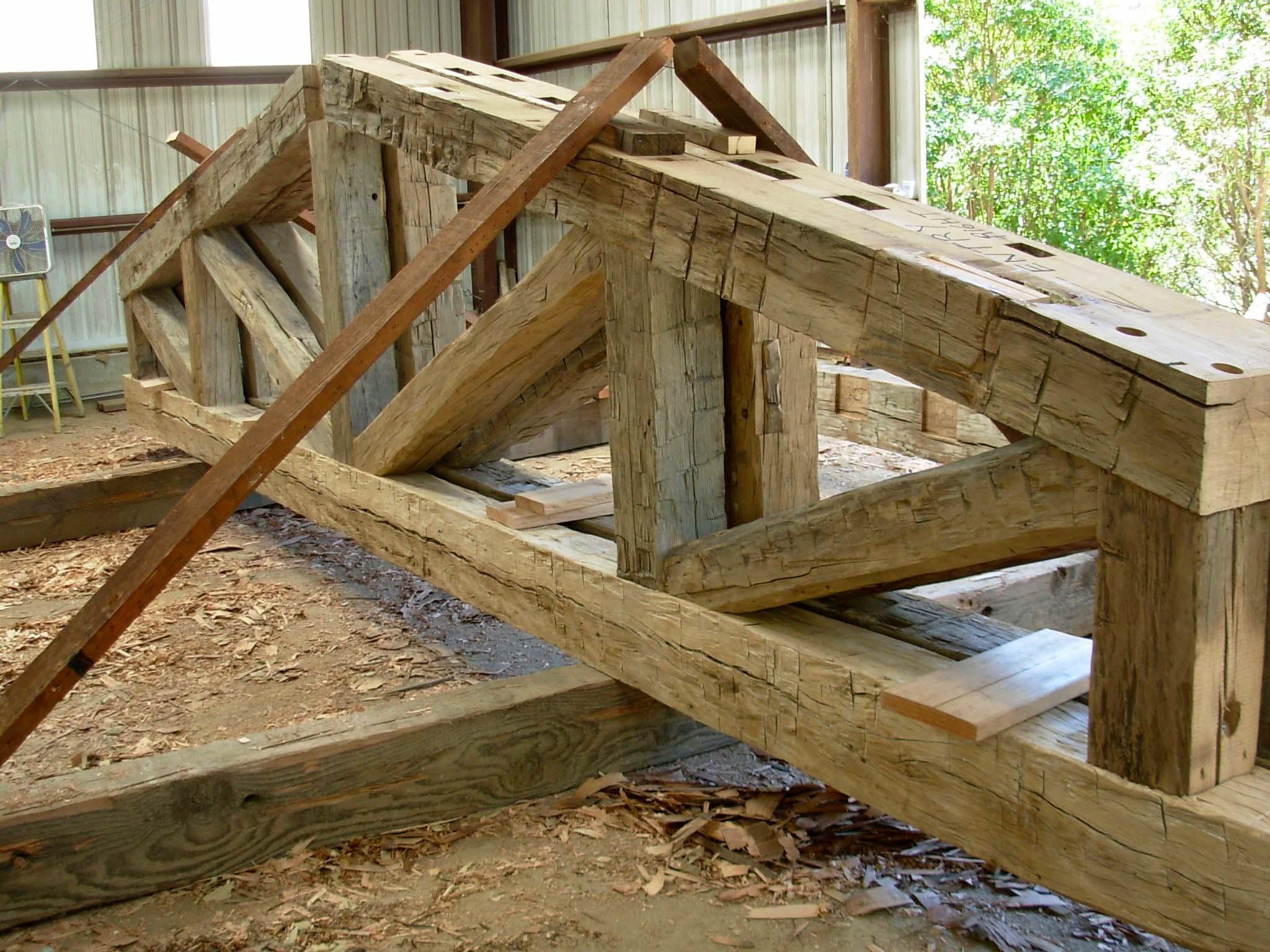 hewn hardwood beams03 - Reclaimed Hardwood Barn Timbers