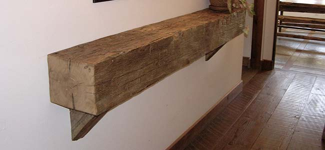hewn hardwood mantels04 - Reclaimed Mantel Barn