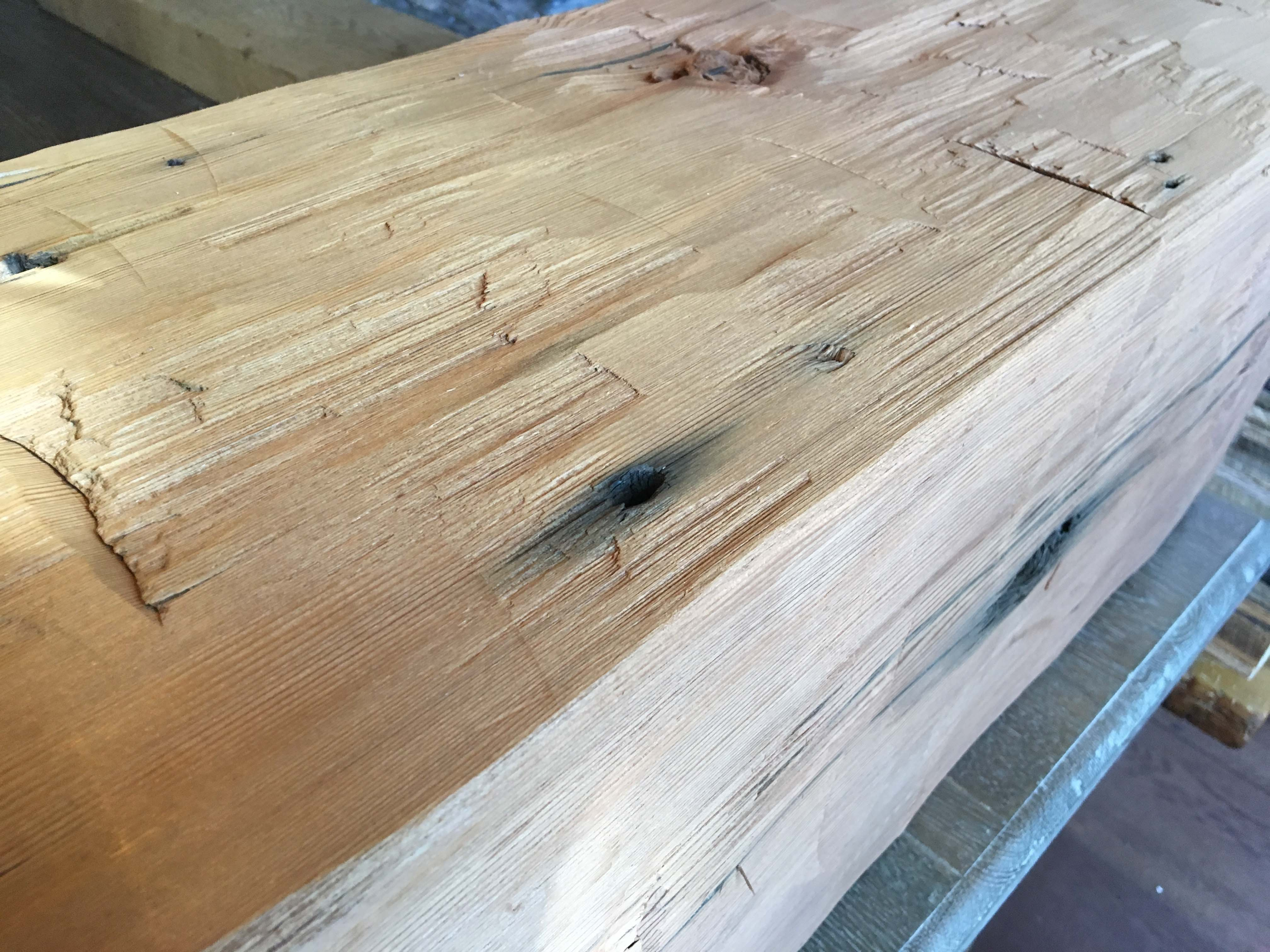 hewn redwood beams02 - Vintage Reclaimed Redwood