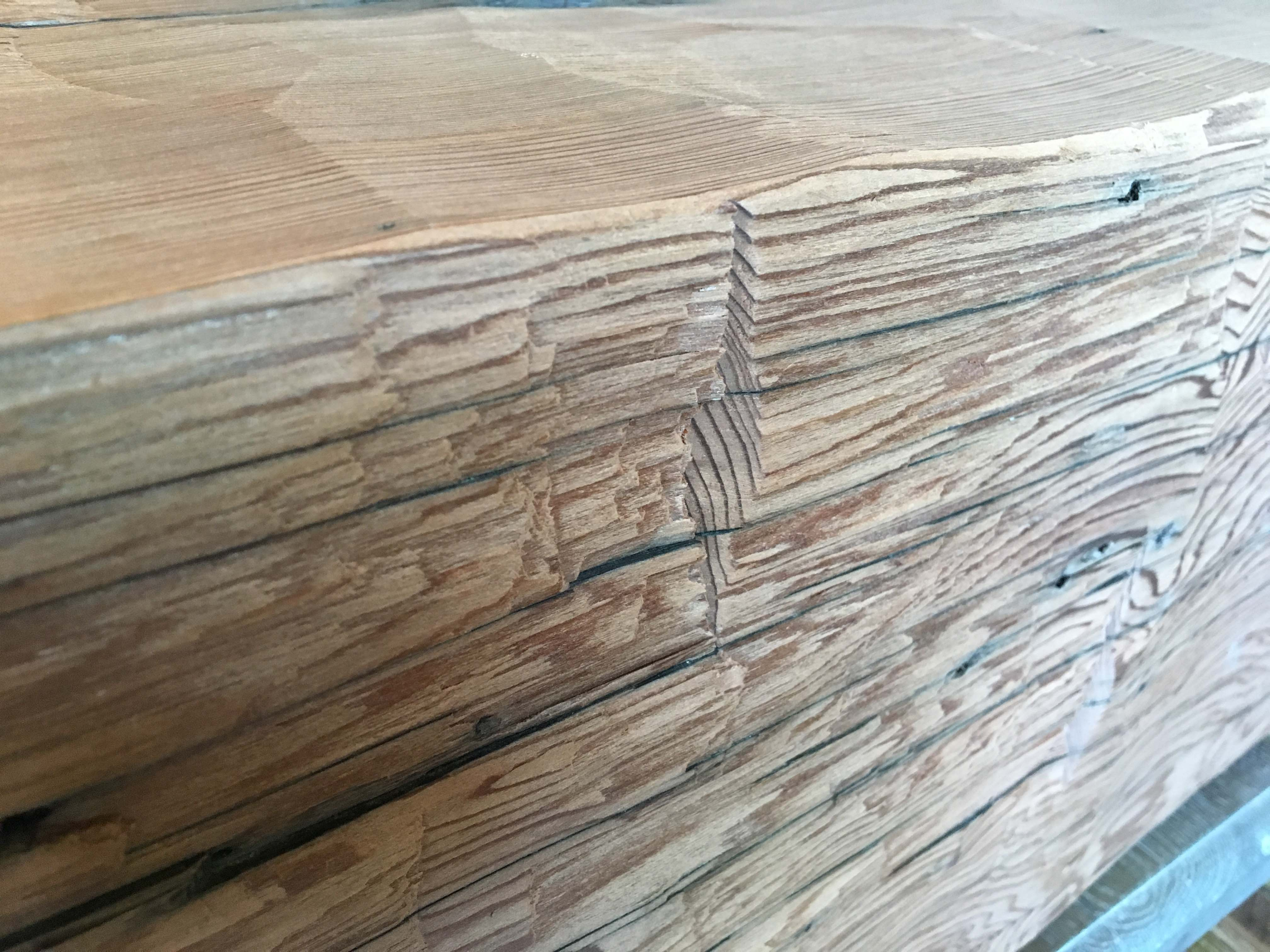 hewn redwood beams03 - Vintage Reclaimed Redwood