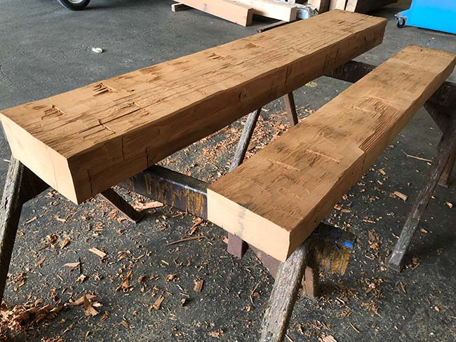 hewn redwood mantels05 - Reclaimed Mantel Redwood