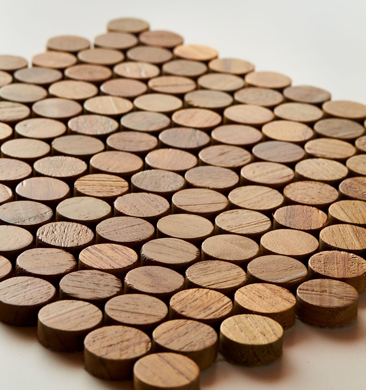 natural closeup 2 - Teak Tile - Bead
