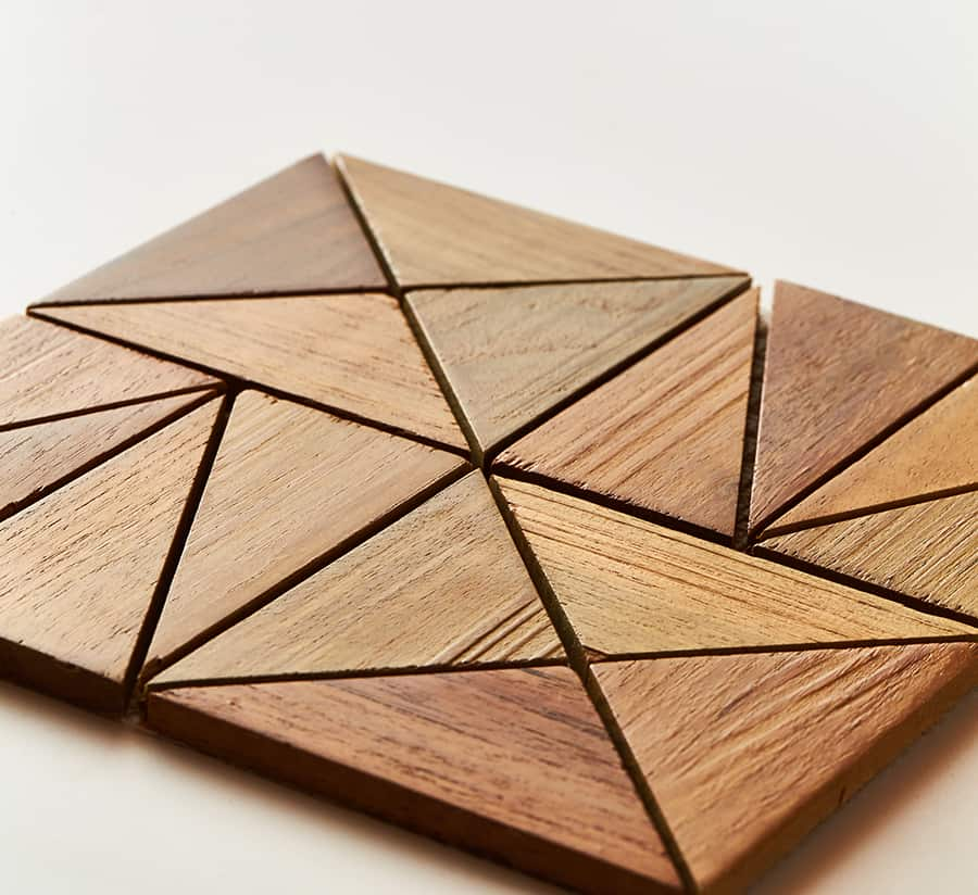 natural closeup 4 - Teak Tile - Rune
