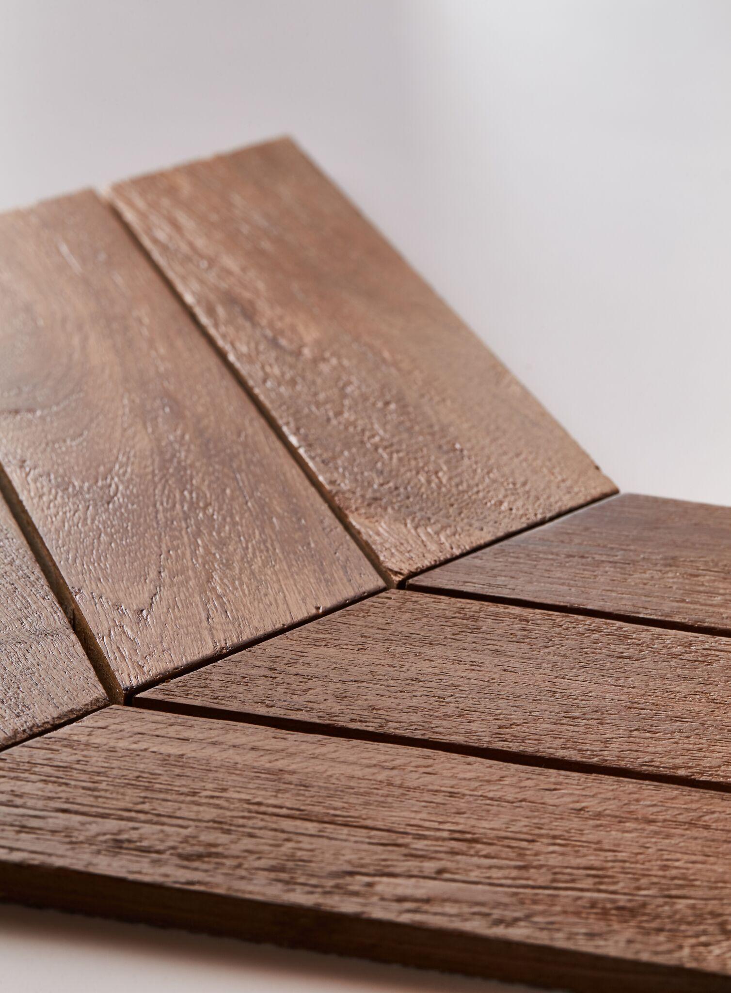 natural closeup - Teak Tile - Chevron