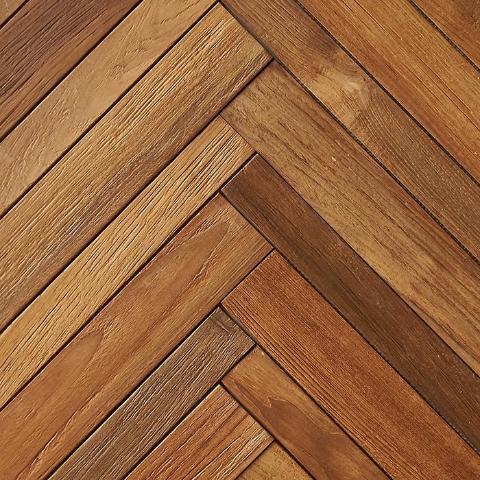 natural matte finish 2 - Teak Tile - Herringbone