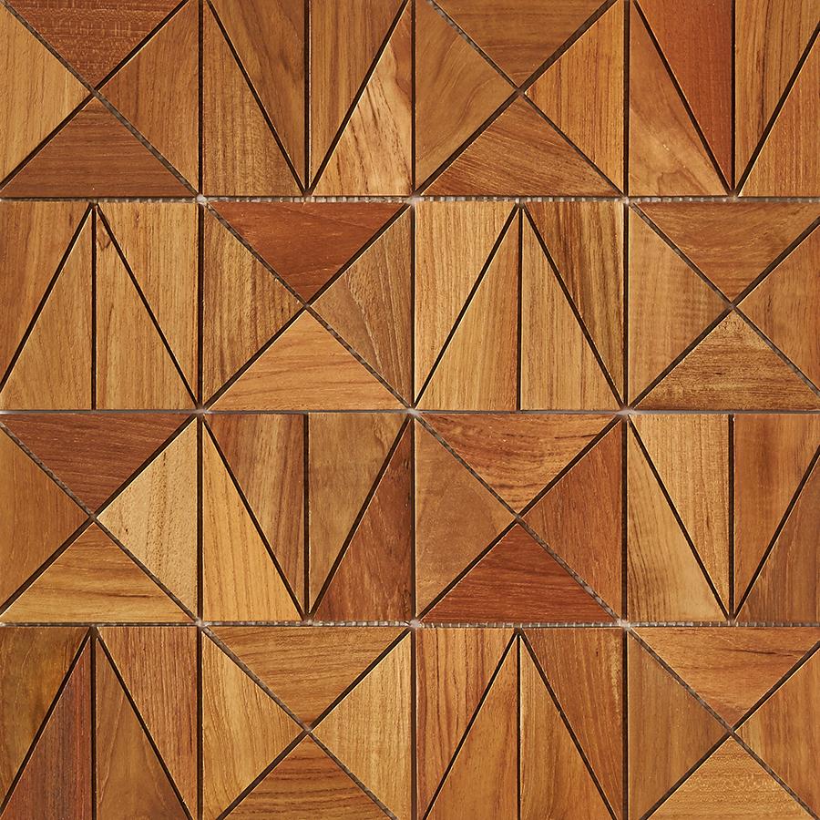 natural matte finish 6 - Teak Tile - Rune