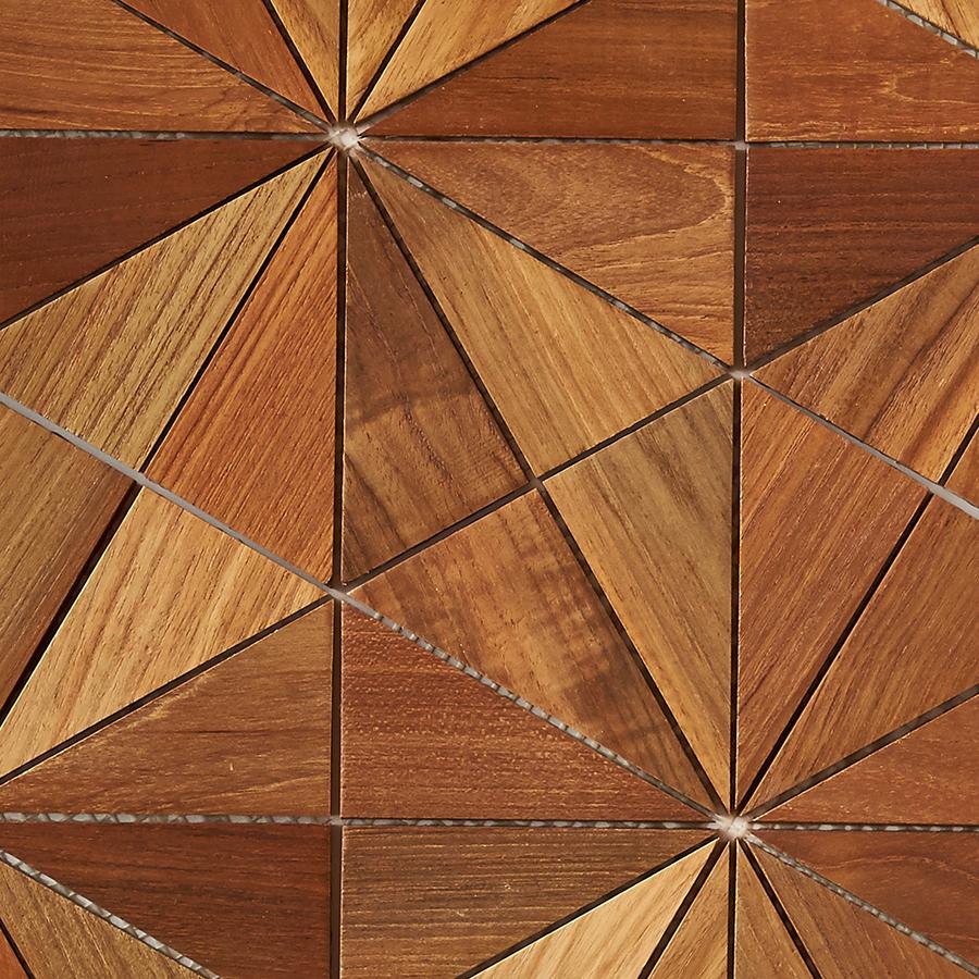natural matte finish 7 - Teak Tile - Starburst